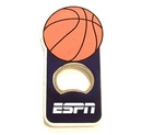 Custom Basket Ball Shape Bottle Opener With Magnet, 4