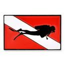 Blank Diver Down Flag Pin, 1
