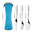 Custom 3 Piece Stainless Steel Cutlery Set, 7 7/8