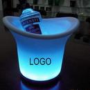 Custom LED Champagne Wine Chiller Ice Bucket, 6 3/4