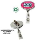 Custom Chrome Jumbo Oval Badge Reel: (Polydome)