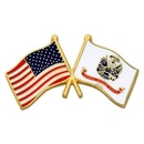 Custom U.S. And U.S. Army Flag Pin, 1 1/8