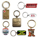 Custom Die Struck Brass Key Tag (1 1/2