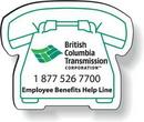 Custom Stock Telephone Magnet .020, Screen-printed White Matte Vinyl Topcoat, 1.66
