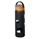 Custom The Astral Glass Bottle w/Black Lid - 22oz Black, 2.87