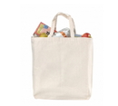 Natural 12 Oz. Cotton Canvas Grocery Bag - Blank (15