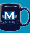Custom 11 Oz. Standard Ocean Blue Ceramic Creative Mug, 4 3/4