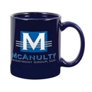 Custom 11 Oz. Premium Royal Blue Ceramic Creative Mug, 4 3/4