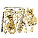 Custom Gold Foil Musical Instrument Cutouts