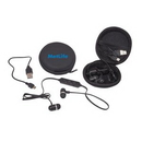 Wireless Microphone Earbuds w/ Protective Case