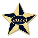Custom 2022 Blue and Gold Star Pin, 1
