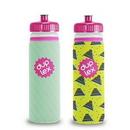 Custom Van Metro Sport Bottle w/ Sleeve & Push-Pull Lid - 4 Color Process Duplex, 10