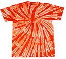 Blank Orange Twist Tye Dye T-Shirt