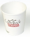 Custom Eco Friendly 10 Oz. Solid White Cup (High Lines)