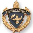 Blank Fully Modeled Epoxy Enameled Scholastic Award Pins (Achievement), 7/8