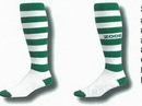 Striped Softball Socks w/ Customized Heel & Toe 10-13 Large