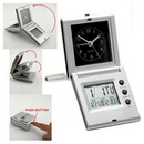 Custom Travel Alarm Clock (Silver), 5 1/8
