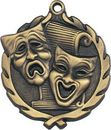 Custom Sculptured Drama Medal 1.75