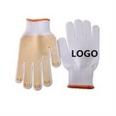 Custom Protective Grip Cotton Gloves With Rubber Dimples Protective Grip Cotton Gloves With Rubber Dimples, 4
