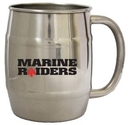 Custom 16 Oz. Single Wall Stainless Steel Barrel Beer Mug w/ C Handle