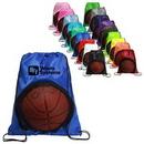 Custom See Through Drawstring Bag for Sport Balls, 13.5