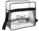 Custom Clear Event Tote w/ Side Mesh Pockets, 12