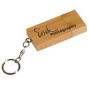 Custom Eco-Friendly 2 Gb Bamboo USB Flash Drive Keychain (Screen Printed), 2 3/8