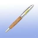 Custom Chrome Cork Roller Ball Pen (Screened)