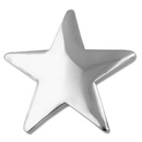 Custom Silver Star Pin, 3/4