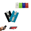 Custom Multifunction Silicone Cellphone Wallet With Stylus Stand, 2.25