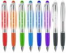 Custom Light Up Logo Illuminated Stylus Pen Silver