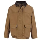 Custom Brown Duck Lined Bomber Jacket-Excel Fr Comfortouch