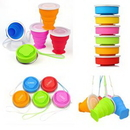 Custom Portable Collapsible Silicone Cups, 3.15