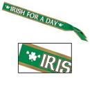 Custom Irish For A Day Satin Sash, 33