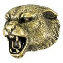 Custom Panther Mascot Fully Modeled 3 Dimensional Pin