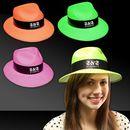 Custom Neon Plastic Fedora Gangster Hats