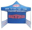 Custom Pop-up Tent w/Back Wall & Side Panel, 10' L x 10' W x 10' H