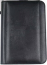 Custom Junior Business Padfolio W/ Outside Pocket, Zipper & Calculator, 7 3/8