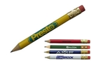 Custom Round Golf Pencil w/ Eraser