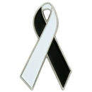 Blank Red And White Awareness Ribbon Pin, 1