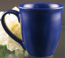 Custom 15 Oz. Carved Ceramic Blue Sugo Mug, 4 1/2