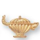 Custom Lamp of Learning Chenille Letter Pin