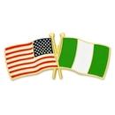 Custom Usa & Nigeria Flag Pin, 1 1/8