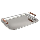 Custom Large Rectangular Tray W/ Wood Handle, 22