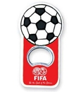 Custom Soccer Ball Shape Bottle Opener with Magnet