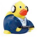 Custom Rubber Broadcaster Duck, 3 3/4