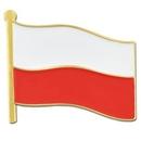 Custom Poland Flag Pin, 3/4