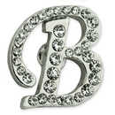 Custom Rhinestone Letter B Pin, 5/8
