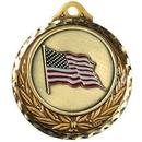 Custom Stock Medallions (US Flag) 2 3/4
