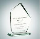 Custom Summit Jade Glass Award Plaque - 10 1/2